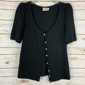 St. John Marie Gray Women's Black Cardigan sweater